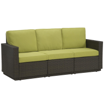 Green sofa with bed